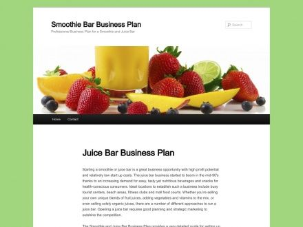 Smoothie  Juice Bar Business Plan  Grow    Juice