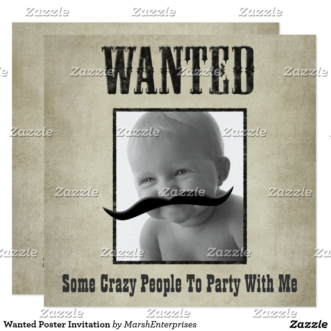 Wanted Poster Invitation | Bachelor Party Invitations | Pinterest ...