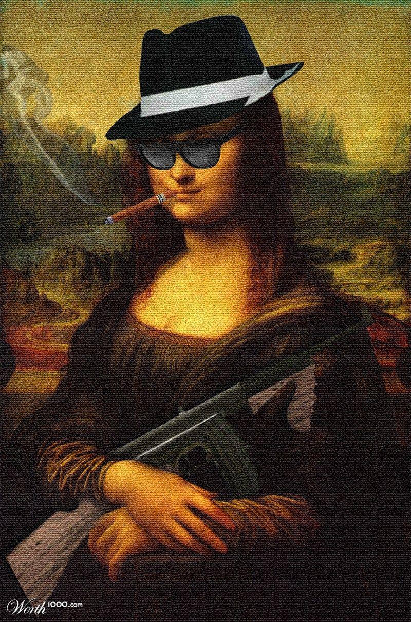 Mafia Lisa / MonAl Capone   Mona Lisa Wider Smiles :)) en ...