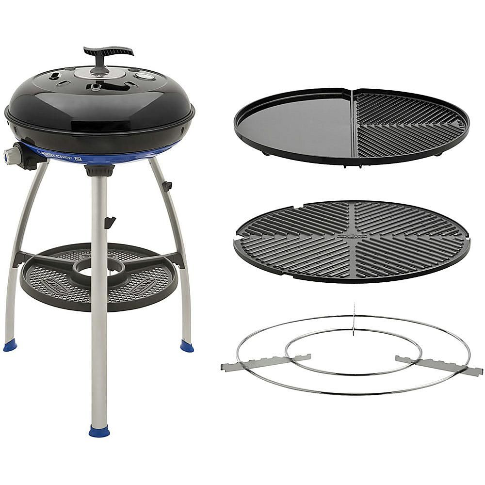 Carri Chef 2 Portable Grill With Pot Ring Grill Plate And Split Grill Griddle Plate Grilling Portable Grill Gas Barbecue Grill