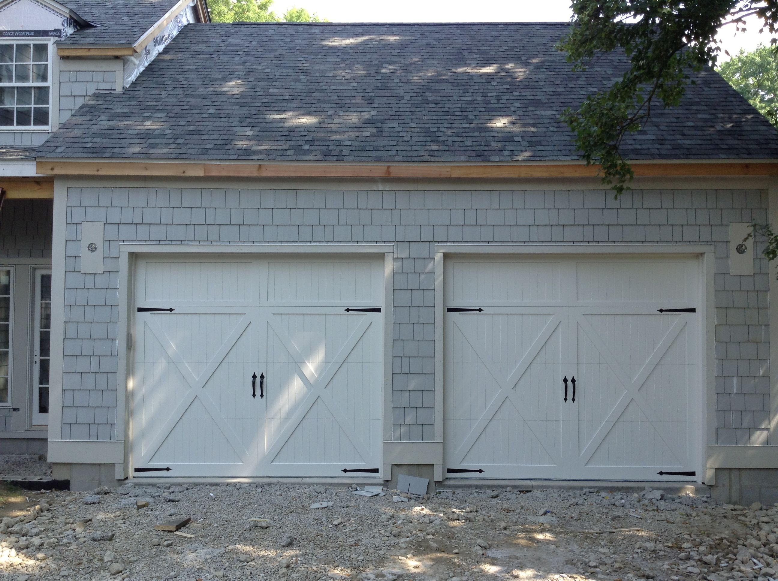 C H I 5434 White Carriage House Door With No Windows White