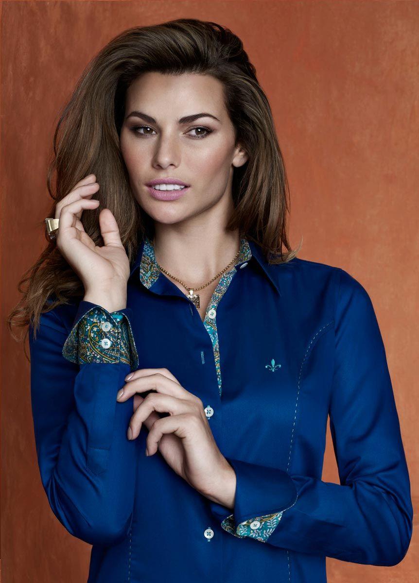 a521768538d Dudalina Azul! Camisa Dudalina Feminina