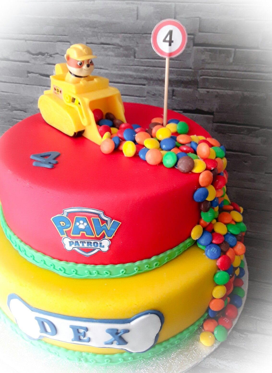 Kindergeburtstag Kuchen Deko Ideen Paw Patrol Rubble Taart Birthday Party Pinterest