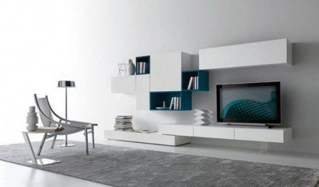 18 Trendy TV Wall Units For Your Modern Living Room Tv walls