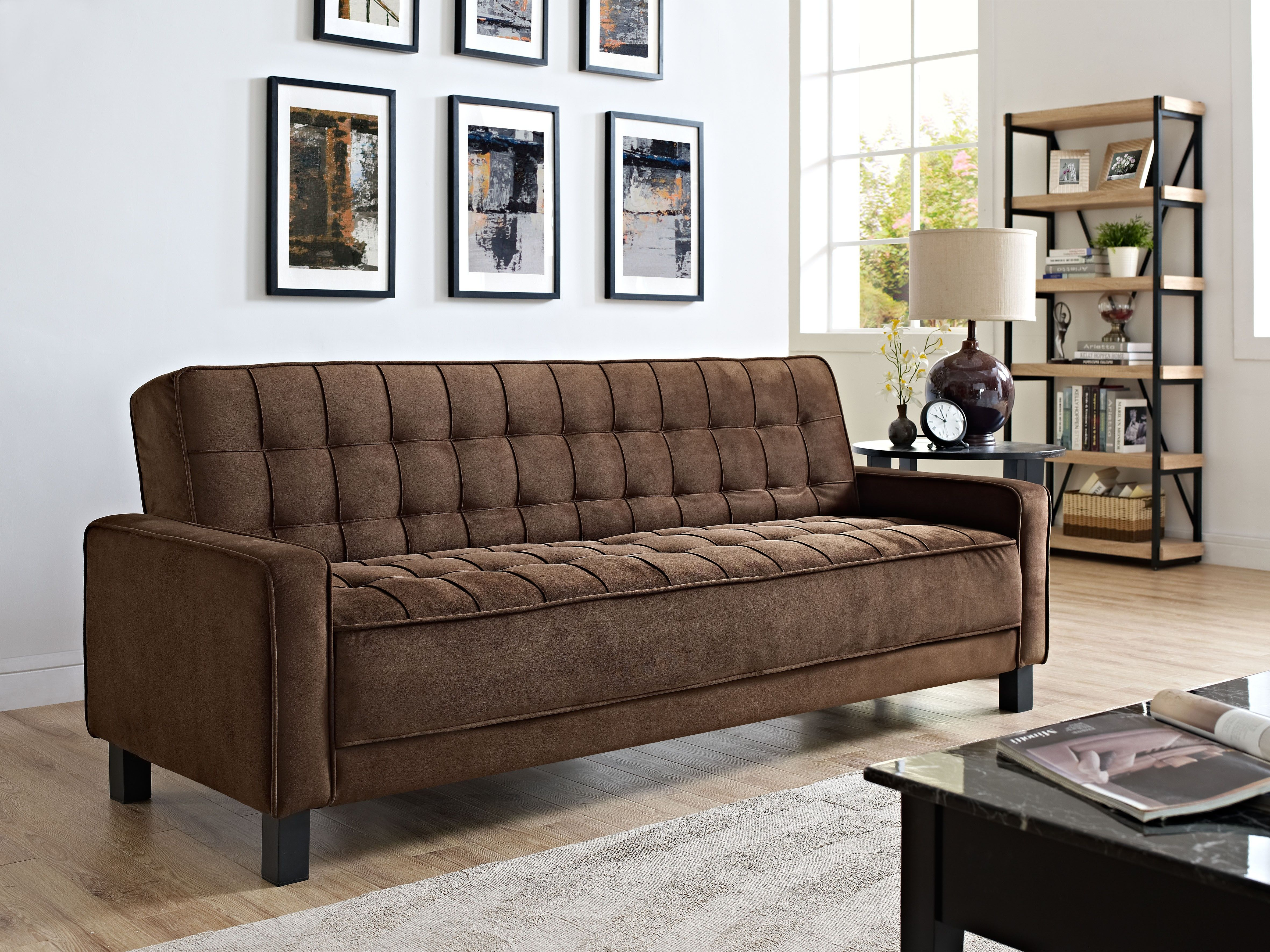 Black Sofa Beds For Sale Chicago Rooms To Go Review Lifestyle Solutions Convertible Mckinley Bed My Euro Lounger The Futon