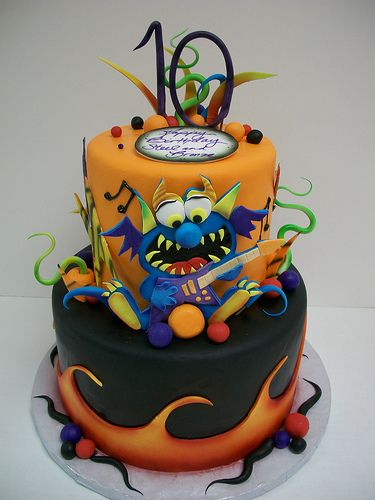 Rock n roll monster cake cake cake boss and roll cakes freerunsca Images