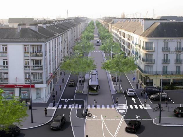L Avenue De La Republique St Nazaire Amenagement Urbain Design Urbain Architecture Ecologique