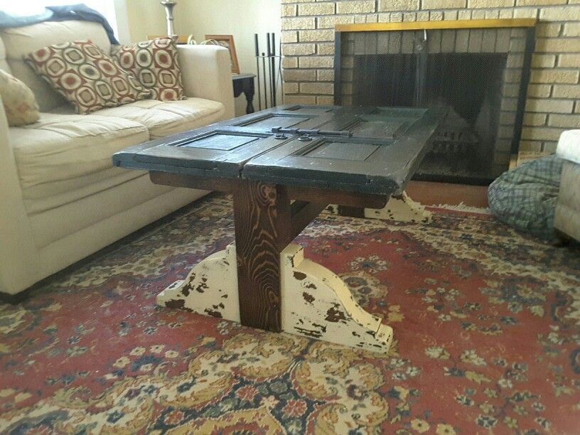 Old shutter coffee table
