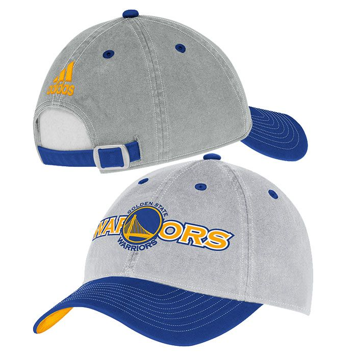 85c9bd66c4f Golden State Warriors adidas Adjustable Team Name Slouch Cap - Grey ...