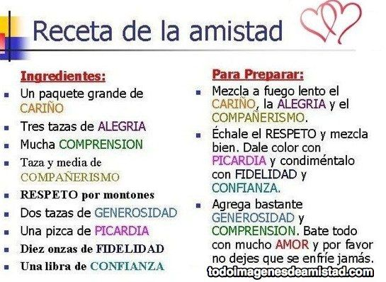 Receta De La Amistad Vocabulario De Sentimientos B1 B2 Words Inspirational Quotes Emotions