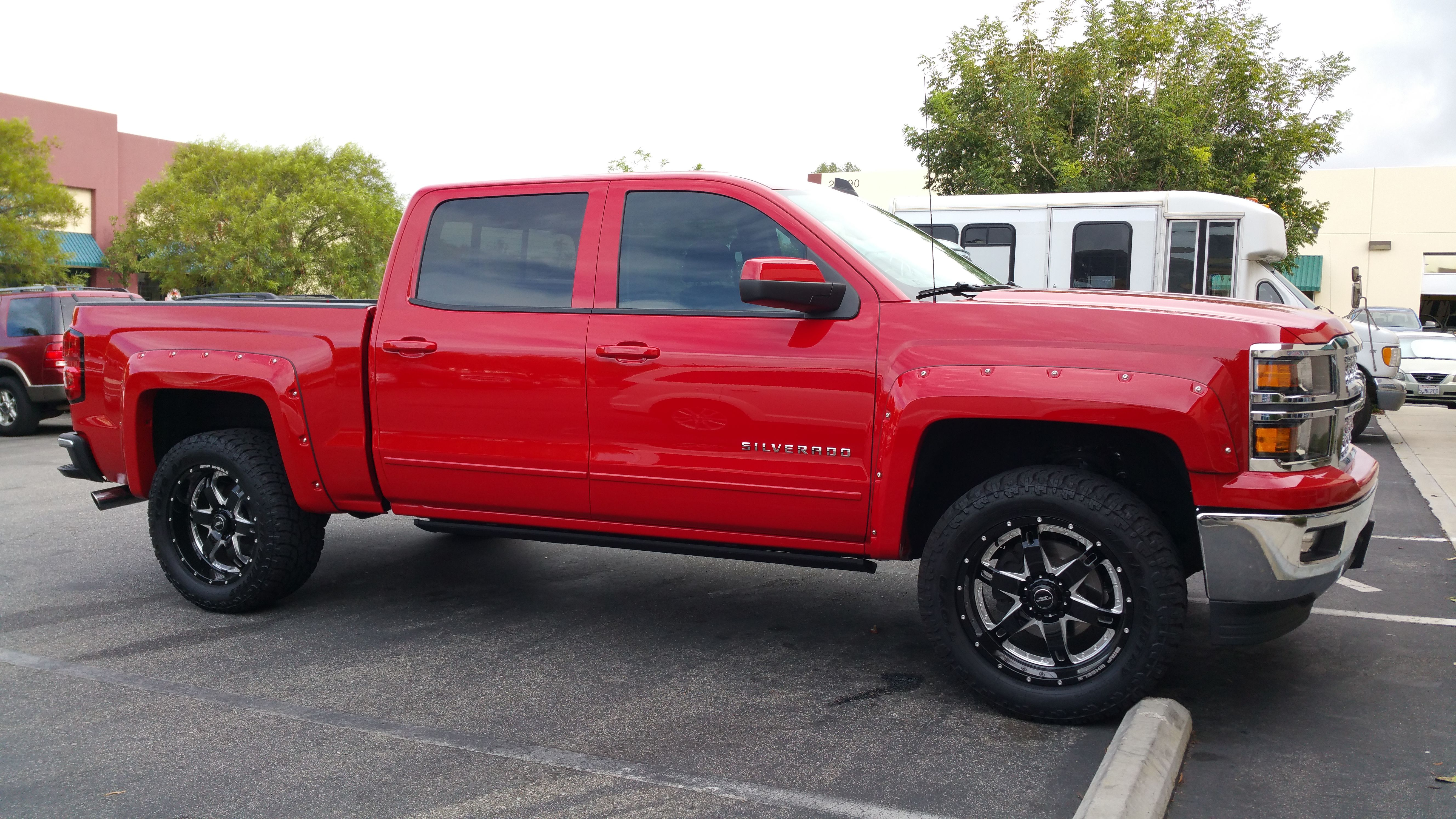 2017 Chevy 1500 Leveled Wheels And Tires Fender Flares Electric Steps By P T Auto Murrieta Ca