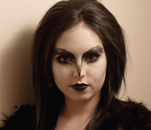 Bird Halloween Makeup.Crow Adapted From Misschievous S Look Raven Halloween Costume Bird Makeup Crow Costume