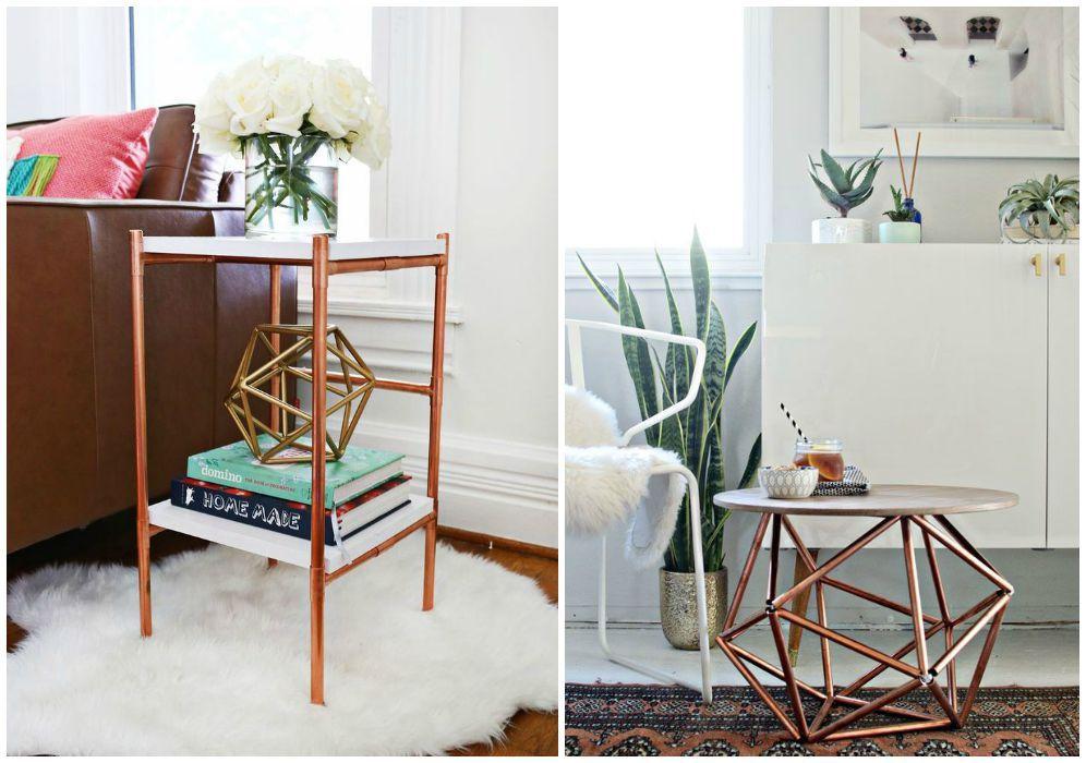 Ingeniosas ideas diy con tubos de cobre mesas l mparas candelabros y muchos m s objetos de - Objetos fabricados con cobre ...