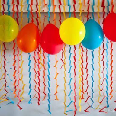 decoracao de festa circulos parede - Pesquisa Google