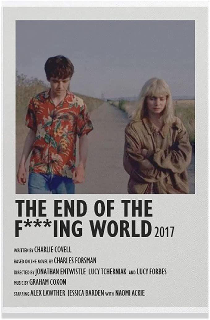 Fondos De Pantalla De The End Of The F** King World Canvas Poster Bedroom Decor Sports Landscape Office Room Decor Gift Unframe-style112×18inch(30×45cm)