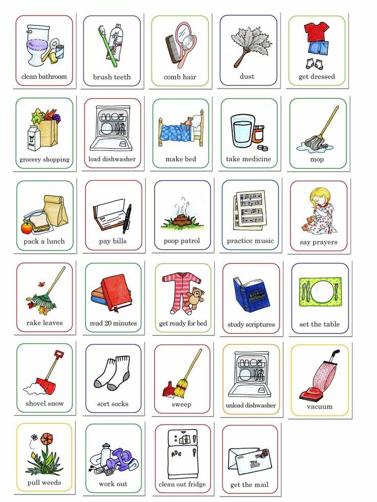 Susan fitch design job chart illustrations also daily visual schedule for kids free printable natural beach living rh pinterest