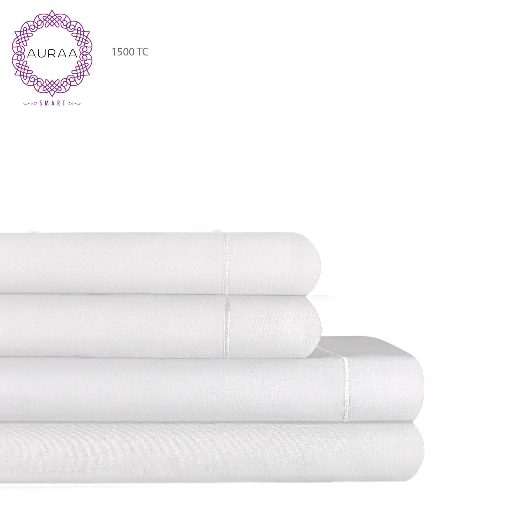 Auraa smart 1500 tc cotton rich king sheet set walmart