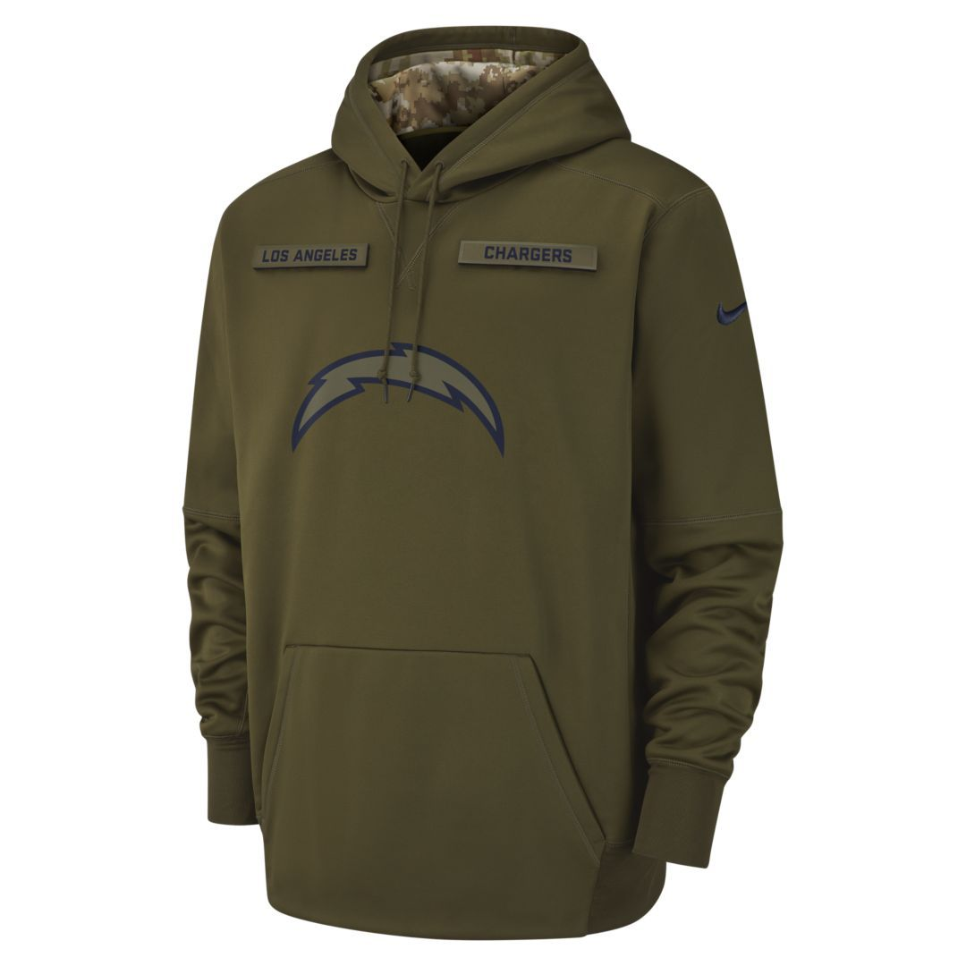 Nike Therma Salute to Service (NFL Chargers) Men s Hoodie Size 3XL (Olive  Canvas) 7cb26838a