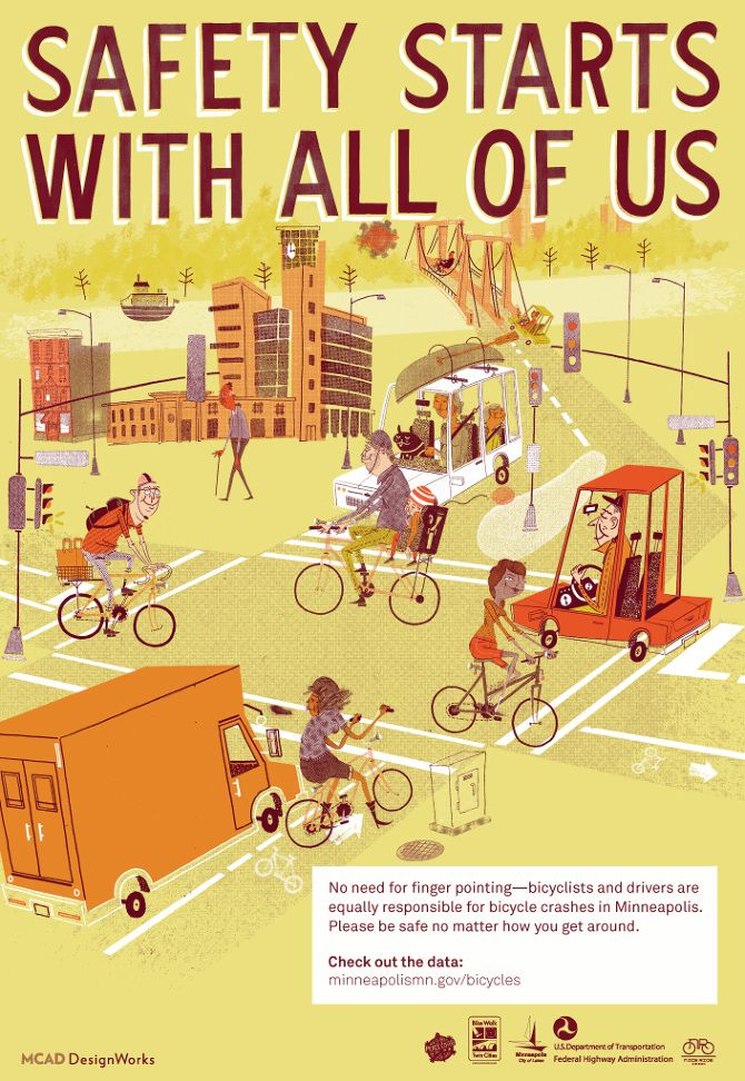 Safety Starts with All of Us. Detailed illustration