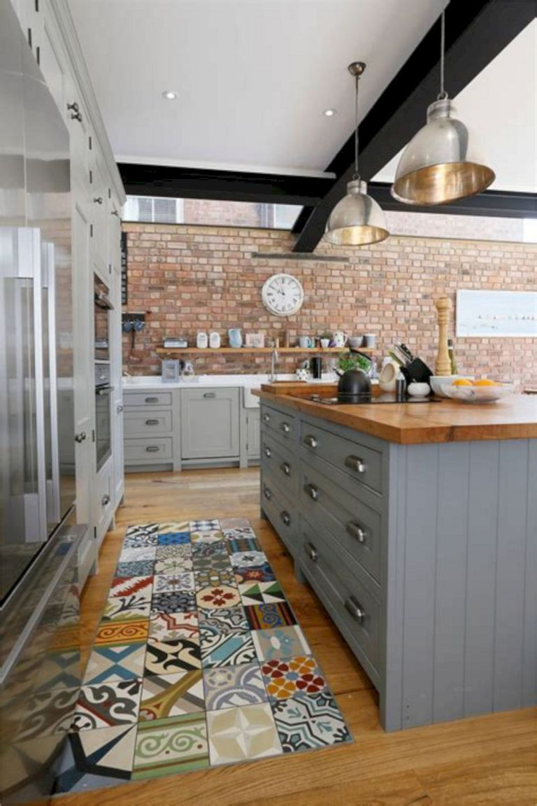 Red Brick Kitchen Ideas 04 | Kitchen Design in 2019 ... on brick entry ideas, brick bath ideas, brick shower ideas, brick studio ideas, brick kitchen island, brick stairs ideas, brick interior ideas, brick kitchen backsplash, brick home ideas, brick outdoor ideas, brick veneer kitchen, brick office ideas, brick screened in porch ideas, brick kitchen countertops, brick garage ideas, brick entrance ideas, brick privacy fence ideas, brick tile ideas, brick centerpiece ideas, brick and wood kitchen,
