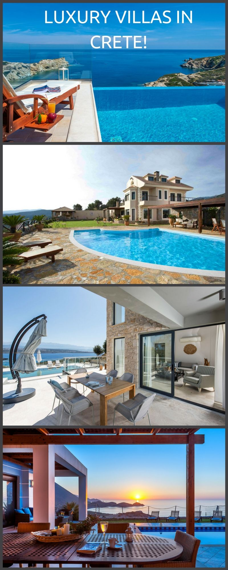 Book a luxury Villa for your next vacation in lovely Crete