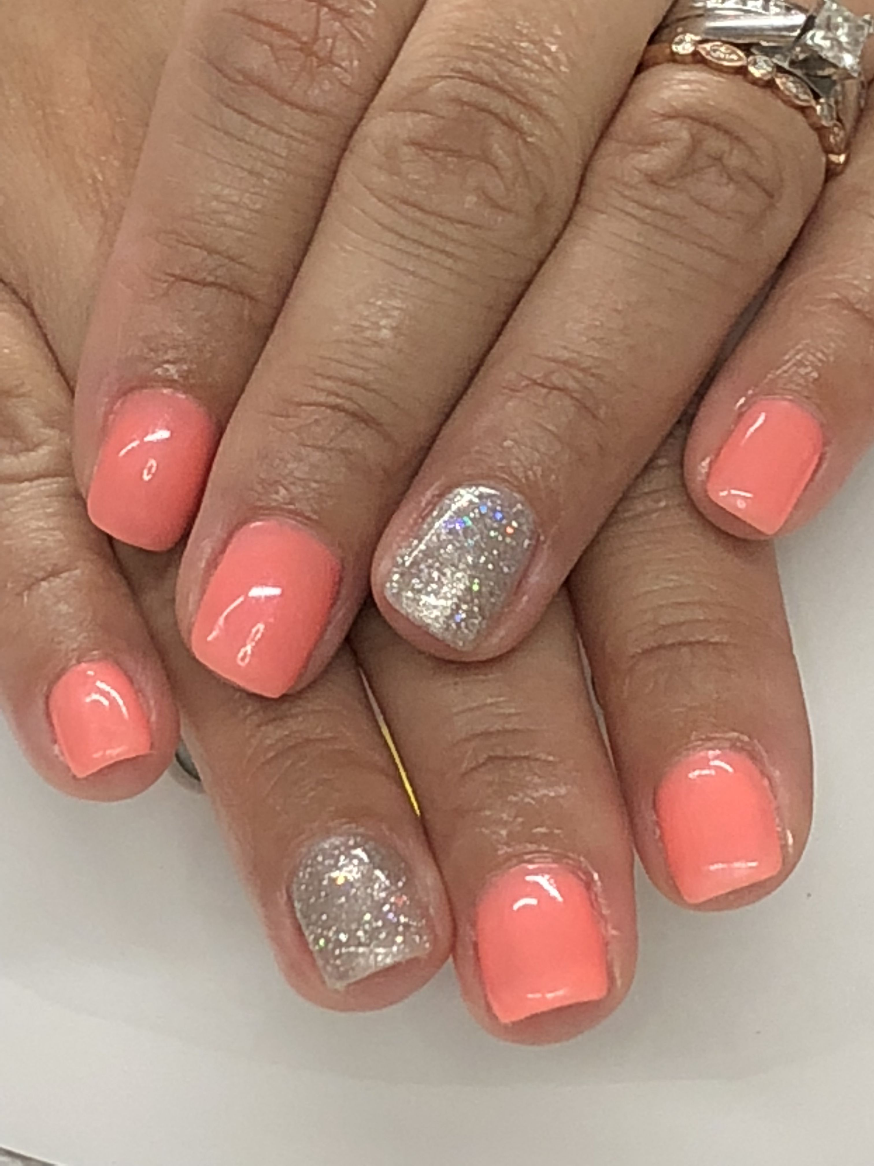Summer Coral Nails With Images Coral Nails Gel Nail Designs
