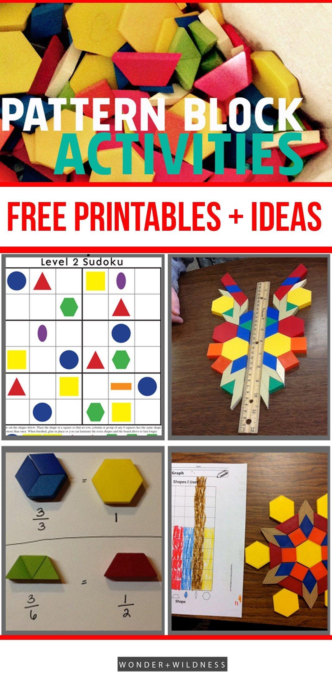 Printable Pattern Block Designs Activities