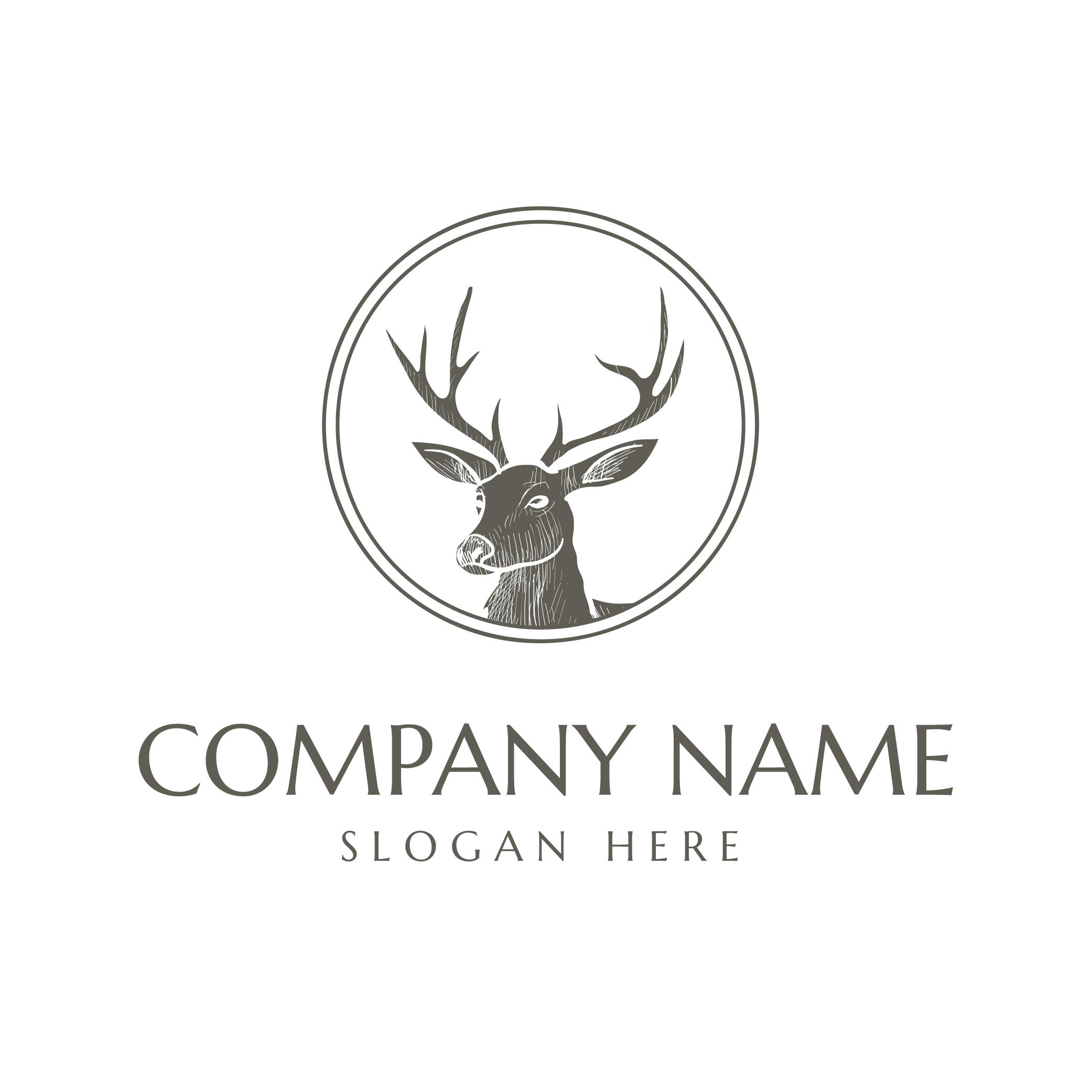 deer horn logo design Logo design, Dog logo design