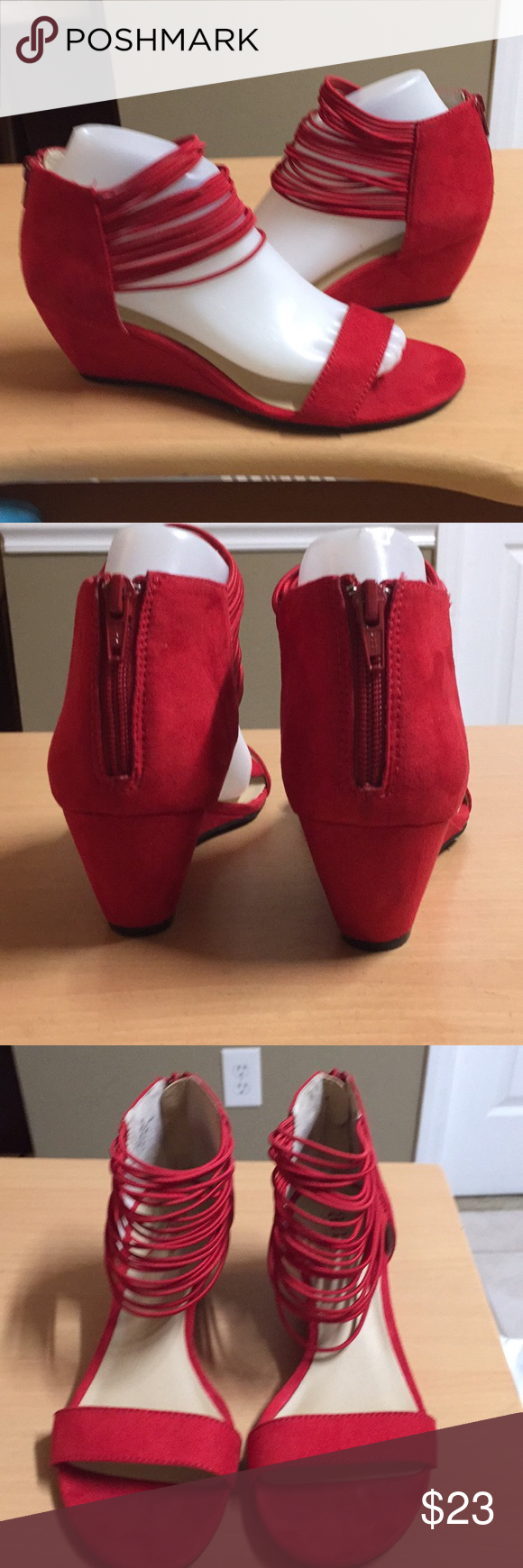"a.n.a. Red suede low wedge sandal back zip 8.5 a.n.a. Red fabric suede sandals low 3"" wedge heel back zip closure whimsical and adorable not a single flaw. Women size 8.5 medium a.n.a Shoes Sandals #lowwedgesandals a.n.a. Red suede low wedge sandal back zip 8.5 a.n.a. Red fabric suede sandals low 3"" wedge heel back zip closure whimsical and adorable not a single flaw. Women size 8.5 medium a.n.a Shoes Sandals #lowwedgesandals a.n.a. Red suede low wedge sandal back zip 8.5 a.n.a. Red fabric s #lowwedgesandals"