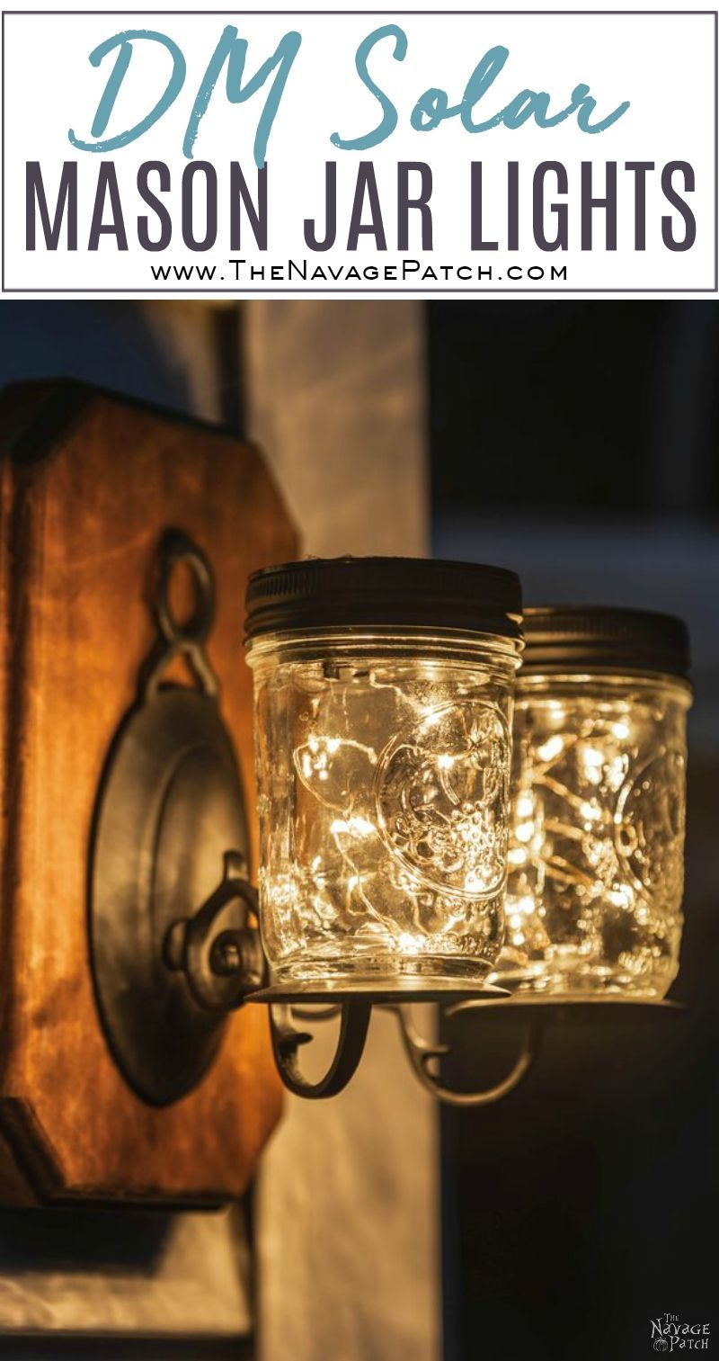 Solar Mason Jar Lights #masonjardiy
