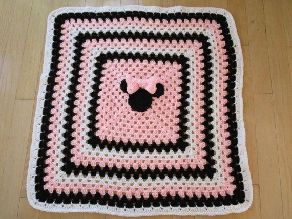 Easy Crochet Blanket PATTERN, Mickey Mouse and Minnie Mouse ...