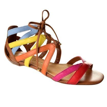 big sale 7cb73 7a6cb Sandália Rasteira Bottero Tiras Coloridas - Marrom Plataforma, Tenis,  Zapatos De Cuña, Marrón
