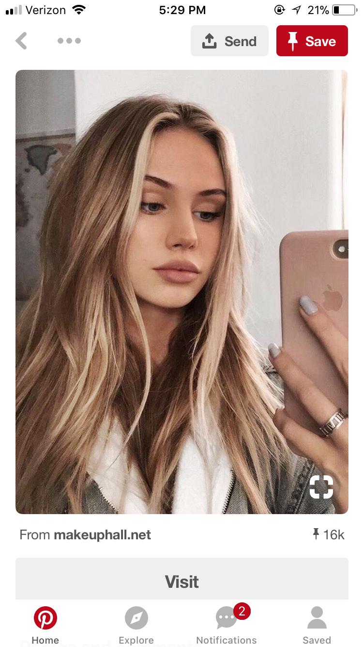 Pin By Kinsey Laninga On Hair Hair Beauty Dark Blonde Hair Hair Styles