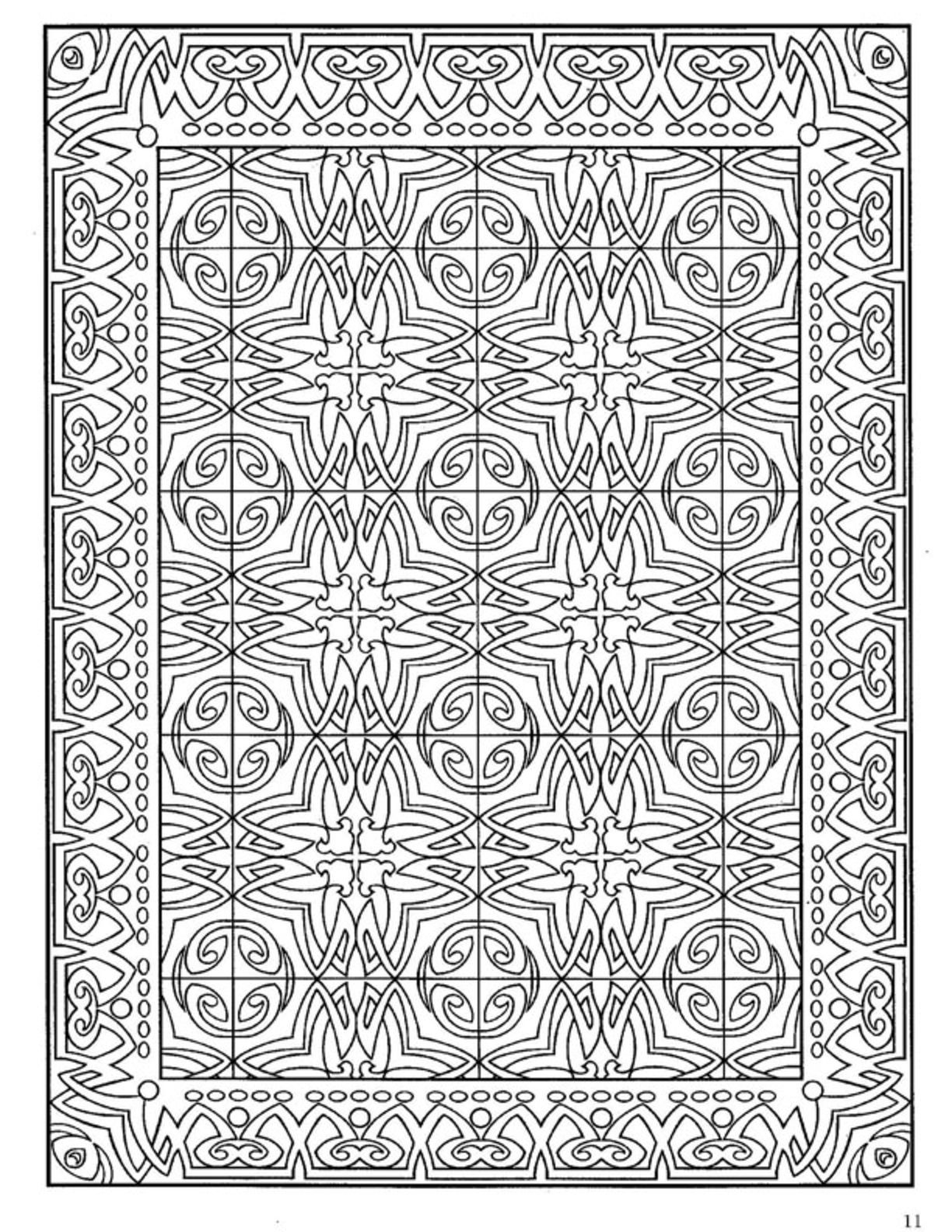 Dover Decorative Tile Coloring Book | Dover Coloring ... - photo#25