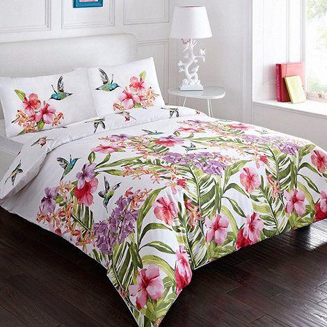 Debenhams White  Hummingbird  bedding set  at Debenhams Mobile. hummingbird bedding   Google Search   Hummingbird Bedroom