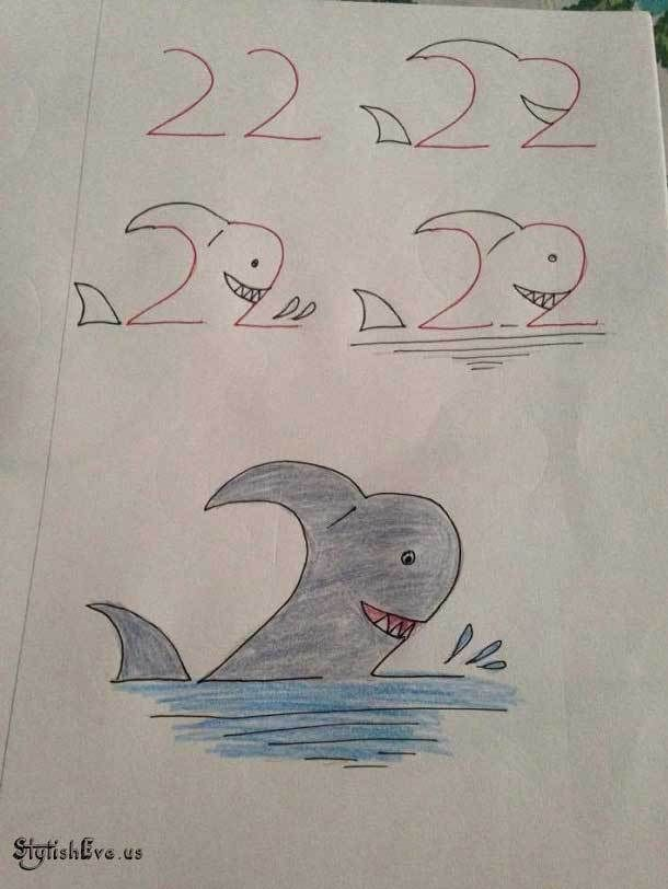 10 Top Creative Friendly Kids Drawing From Numbers 10 Top Friendly