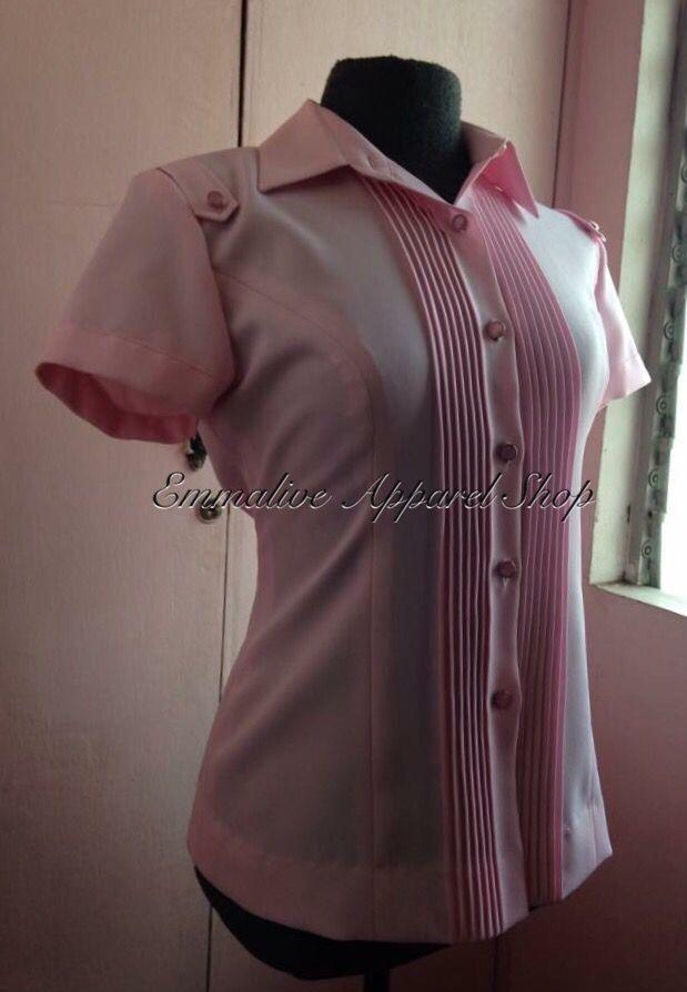 Pink Pleated Blouse Uniform Pleated Blouse Uniform Design Office Blouse