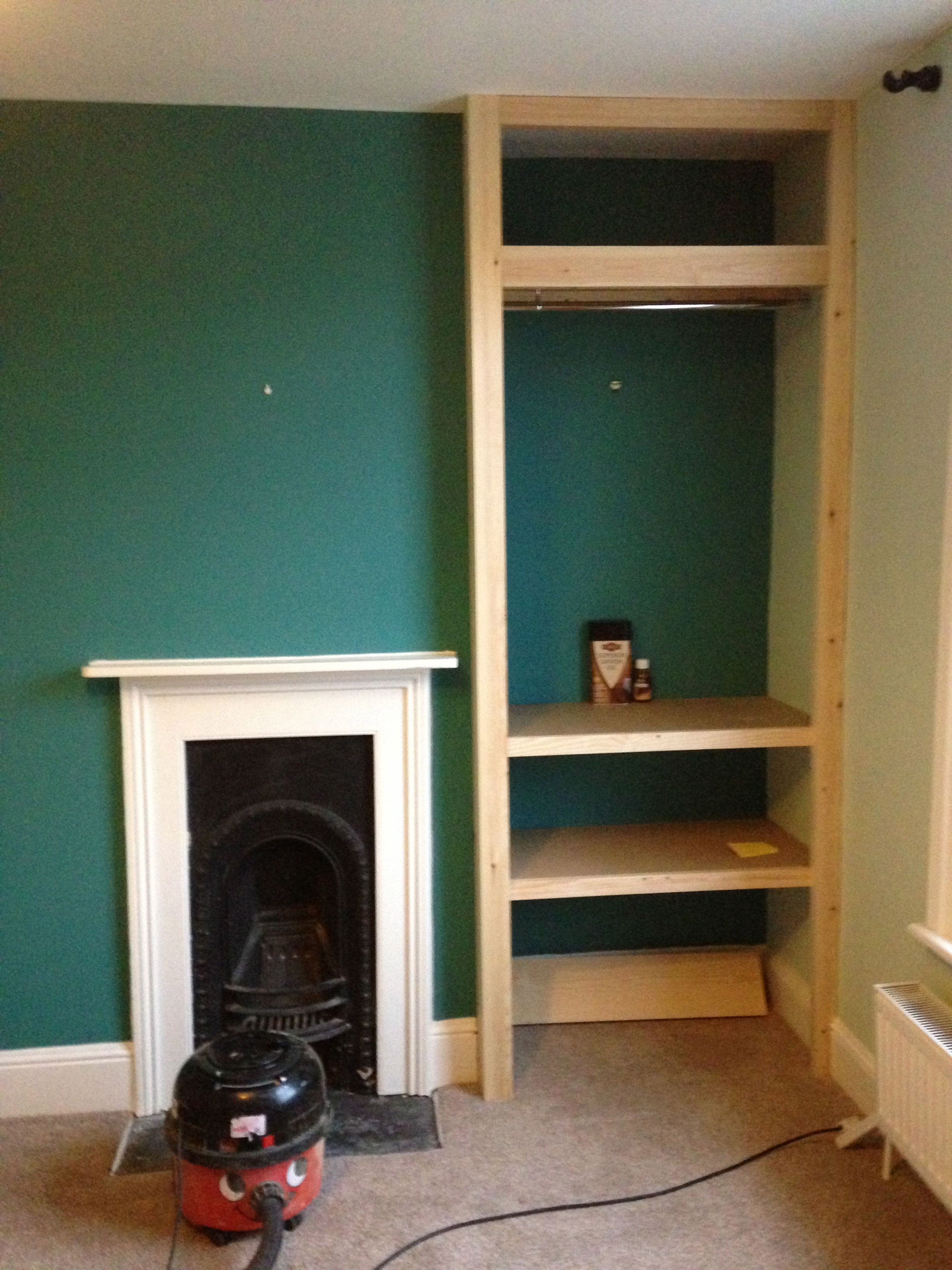 Fitted shelving, cupboards and flooring (With images ...