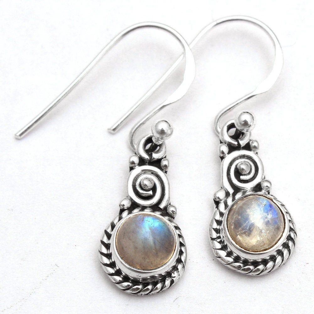 AAA CORAL EARRINGS Sterling Silver Long Elegant 1.75