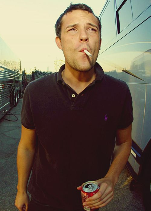 Brandon Flowers smoking a cigarette (or weed)