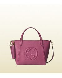 d4c03e7f93d Gucci Soho Leather Top Handle Bag pink - Lyst