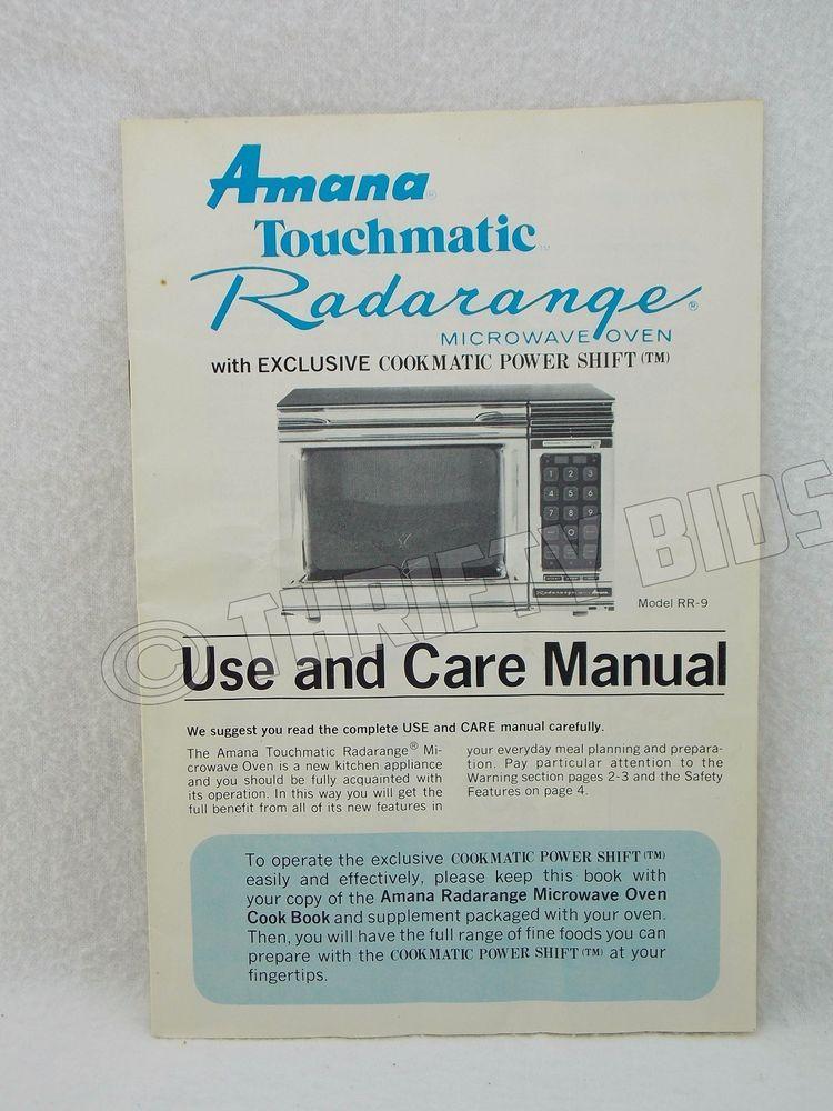 Amana Radarange Microwave Oven Manual Bestmicrowave