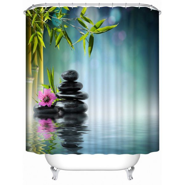 Waterproof Nature Landscape Bath Shower Curtain | Bath shower ...