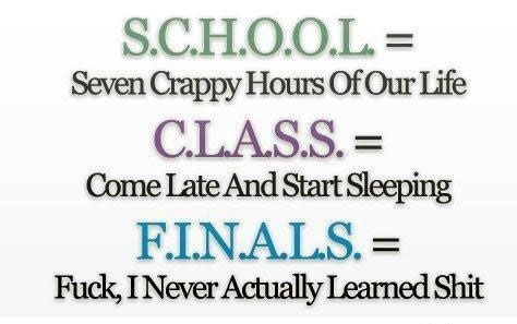 Funny Meaning Of School Funny Quotes School Humor Funny Pictures With Captions