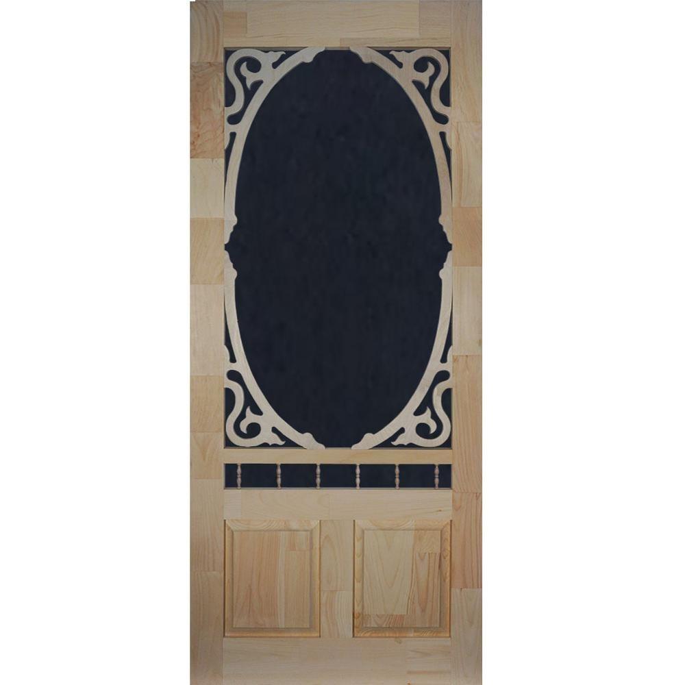 Kimberly Bay 36 In X 80 In Clarington Unfinished Wood Screen Door Dsacl36 Wood Screen Door Wooden Screen Door Aluminum Screen Doors