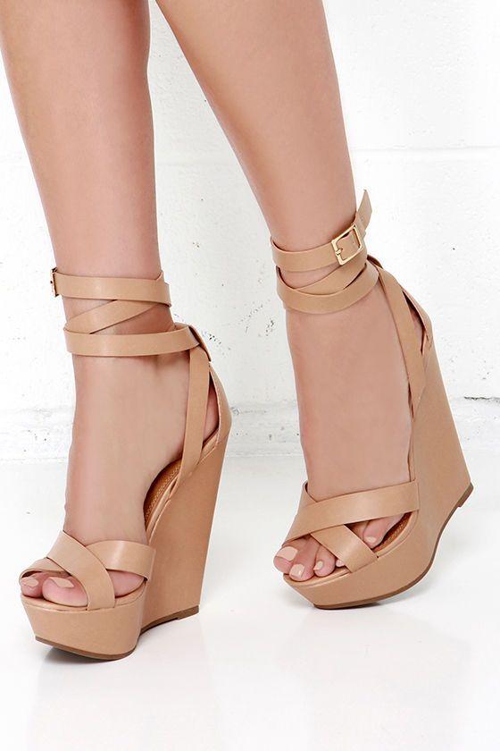 Natural Platform Wedges | Zapatos de tacon corrido, Zapatos
