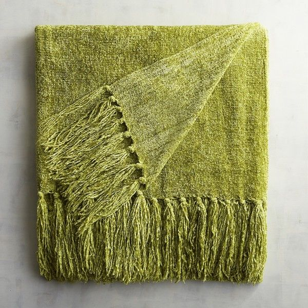 Pier 40 Imports Citron Chenille Throw 40 Liked On Polyvore Amazing Citron Throw Blanket
