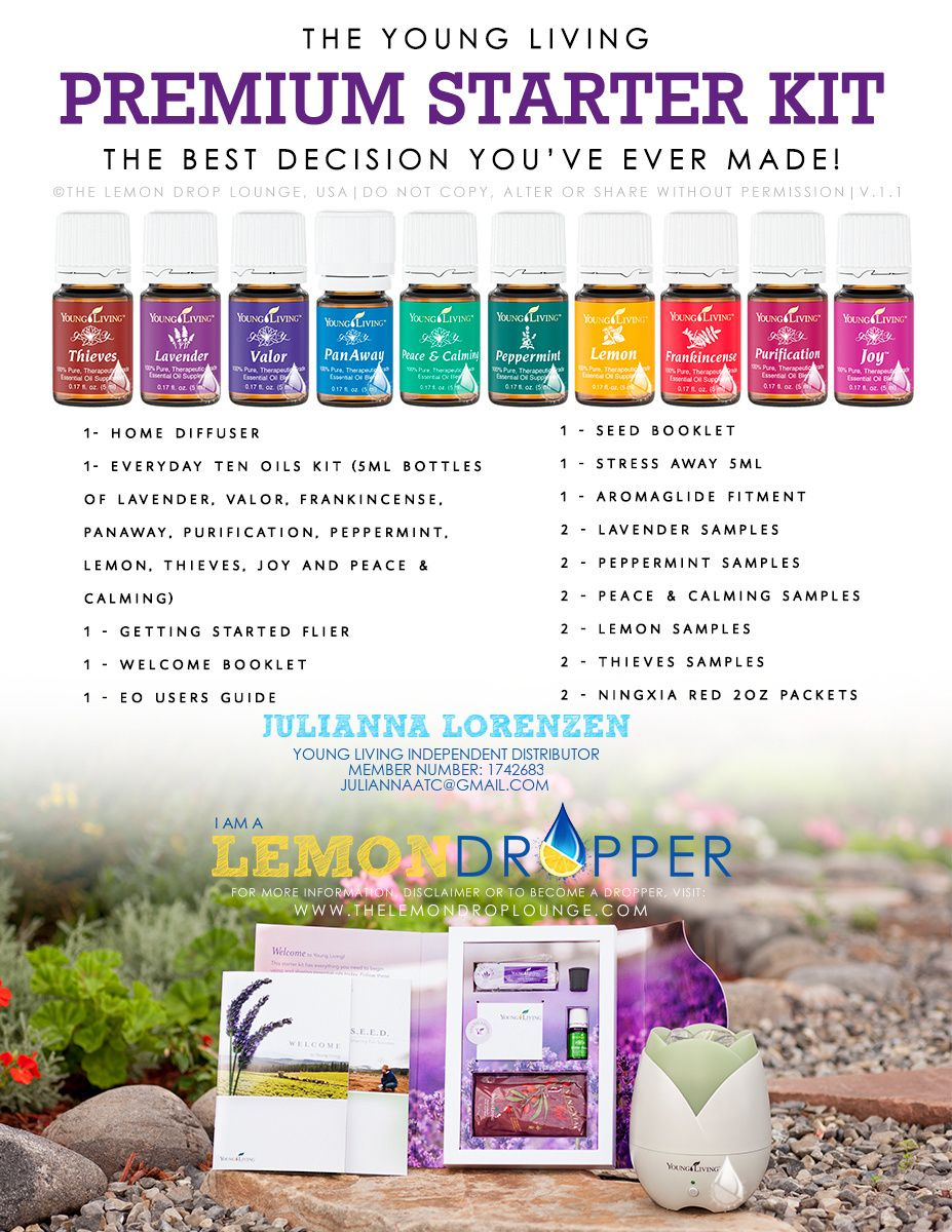 This is the best way to get started with essential oils.  For $150 you get a diffuser and 11 AMAZING essential oils that can help with everything from headaches to anxiety.