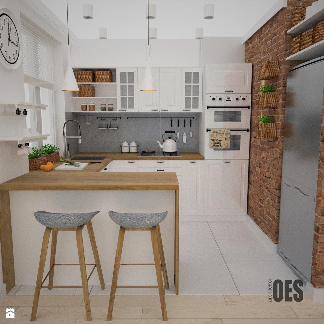 Kuchnia styl Skandynawski  zdjęcie od OES architekci