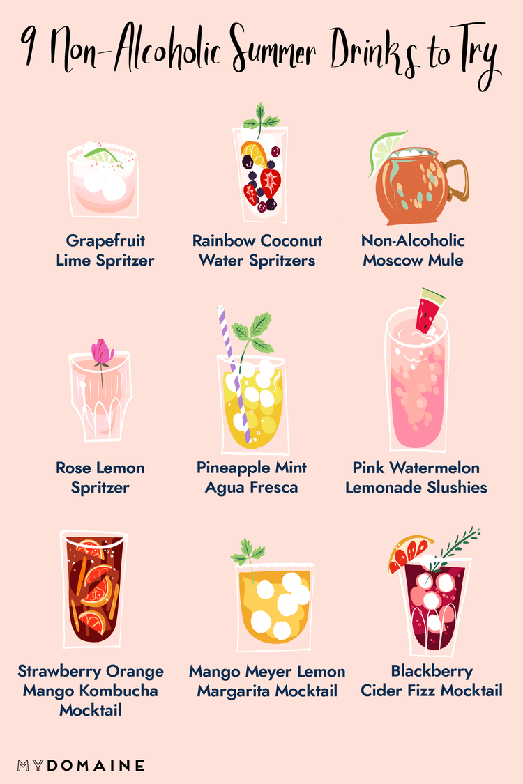 12 Non-Alcoholic Summer Drinks for When You'd Rather Just Take It Easy